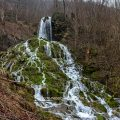 Neidlinger Wasserfall, Baden-Württemberg, Neidlingen, Schwäbische Alb (4 Bilder Hochformat)