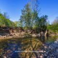 Die Lauter, kleiner Fluß bei Kirchheim unter Teck (6 Bider Hochformat)