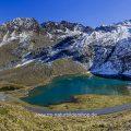 Weißsee, Gletschersee, Kaunertalgletscher, Tirol, Österreich, Panorama aus 6 Bildern