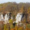 Schwäbische Alb - Felsen bei Schopfloch im Herbst