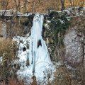 Uracher Wasserfall, Schwäbische Alb, Bad Urach (Panorama aus 9 Bildern im Hochformat mit 300 mm)