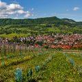 Blick über Neuffen, Schwäbische Alb, Deutschland