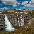 Storulfossen-Wasserfall, Rondane NP Norwegen