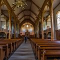 Vagan-Kirche in Hjeliskjaeret auf den Lofoten
