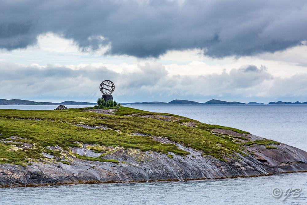 Insel Vikingen mit dem Polarkreis-Globus