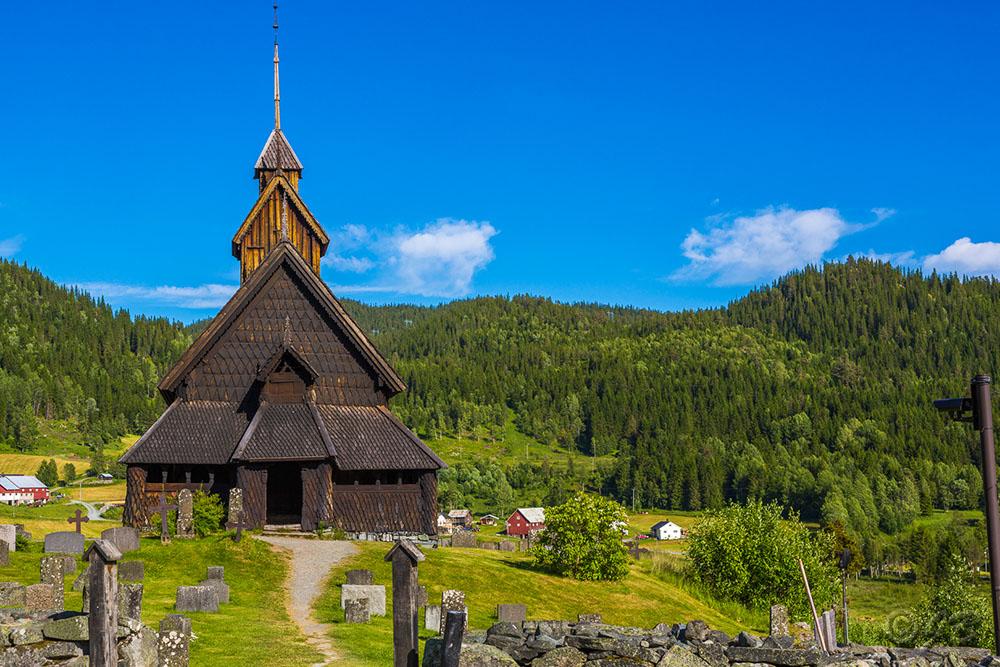 Eidsborg Stabkirche bei Dalen im Telemark