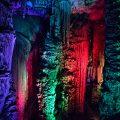 Lichtillumination in der Höhle Cuevas de Arta, Mallorca, Spanien