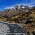 Bergwelt im Kaunertal mit Riffler Bach, Tirol, Österreich