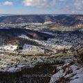 Blick vom Gelben Fels ins Lenninger Tal