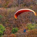 Gleitschirmflieger, Schwäbische Alb, Deutschland