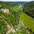 Blick vom Knopfmacherfels nach Beuron, Donautal, Schwäbische Alb