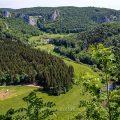 Blick vom Knopfmacherfels ins Donautal, Schwäbische Alb