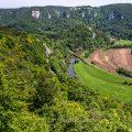 Blick vom Rauhen Stein ins Obere Donautal, Schwäbische Alb
