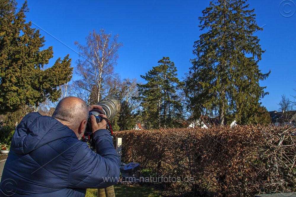 Graureiher Location und Fotograf beim Hobby