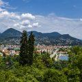 Blick über Verbano, Lago Maggiore, Piemont, Italien