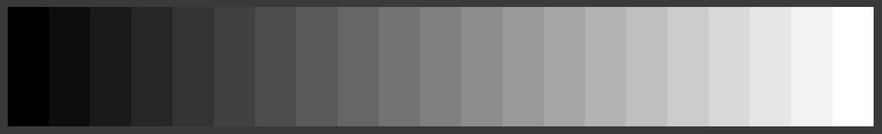 Graukeil mit 5% Abstufung in den Grautönen
