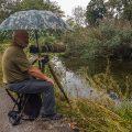 Bei Regen im Einsatz