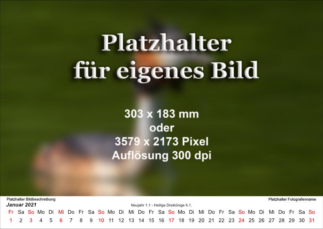Kalender mit weißem Hintergrund