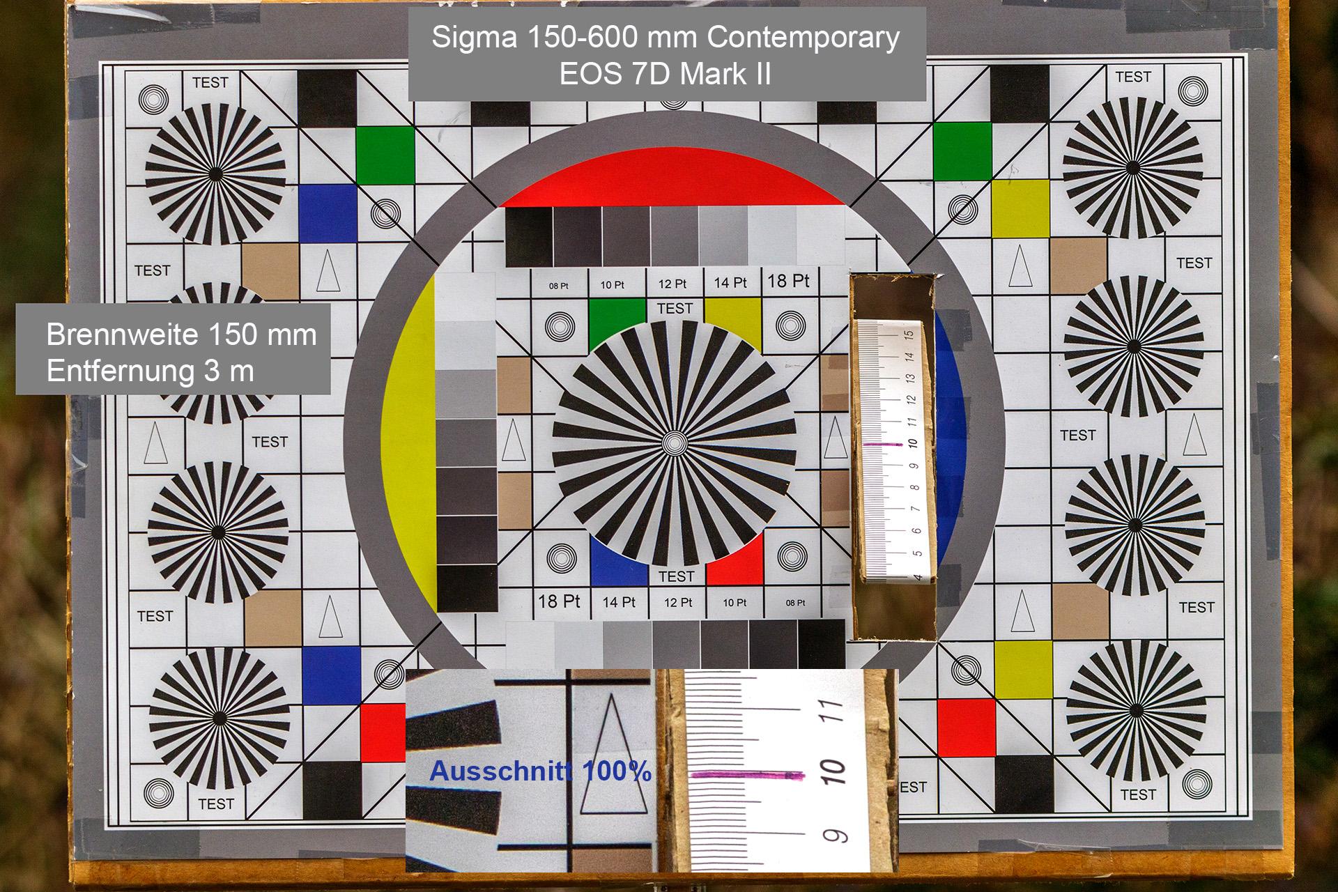 Testaufnahmen, Sigma 150-600 mm, 7D Mark II, 3 Meter, 150 mm