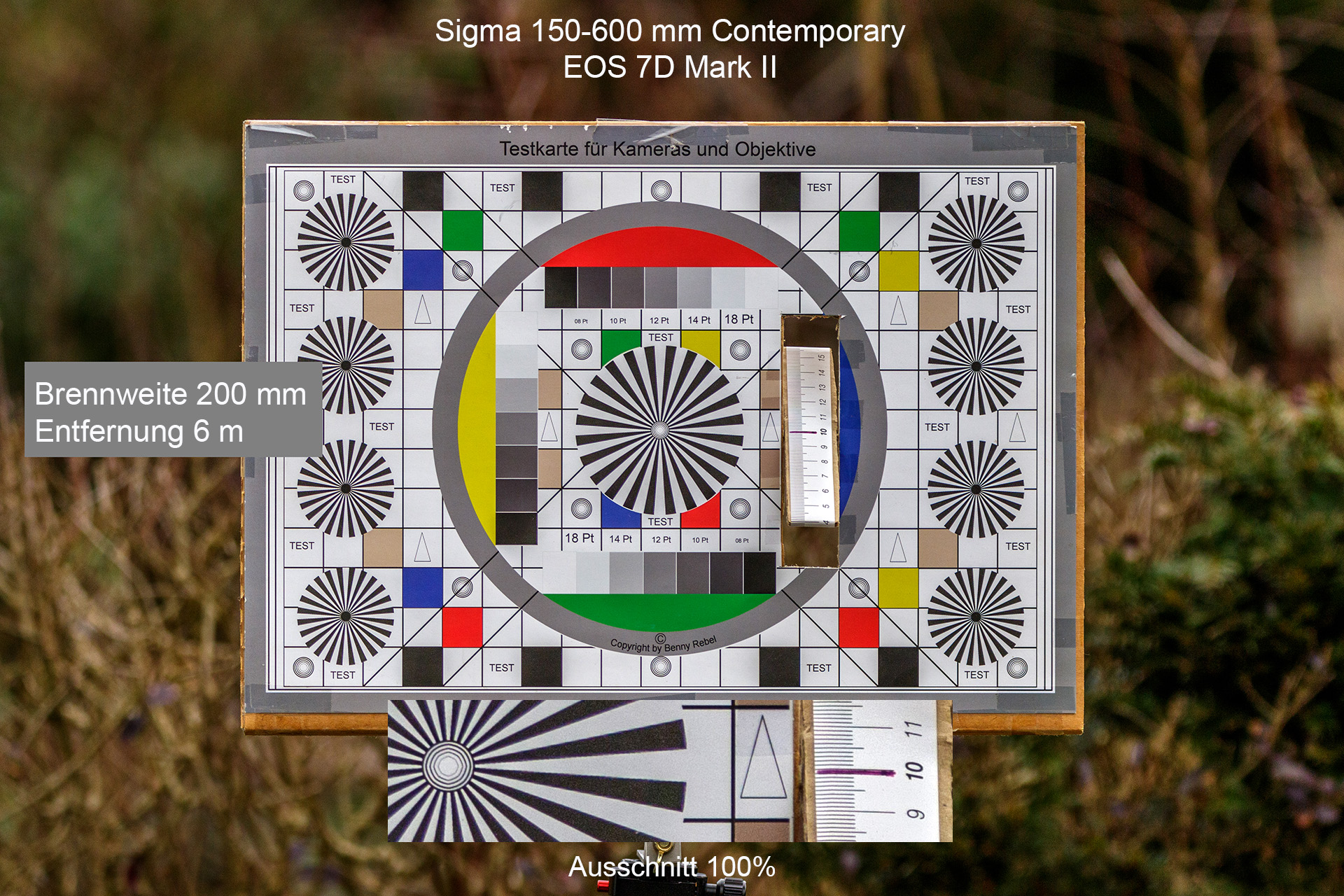 Testaufnahmen, Sigma 150-600 mm, 7D Mark II, 6 Meter, 200 mm