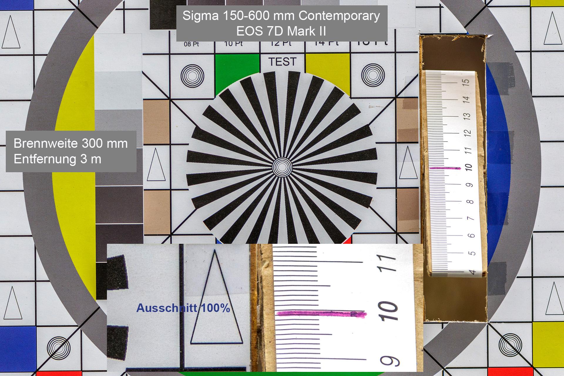 Testaufnahmen, Sigma 150-600 mm, 7D Mark II, 3 Meter, 300 mm