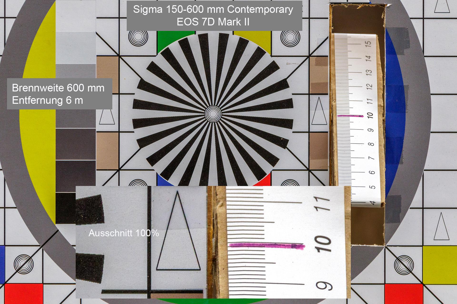 Testaufnahmen, Sigma 150-600 mm, 7D Mark II, 6 Meter, 600 mm