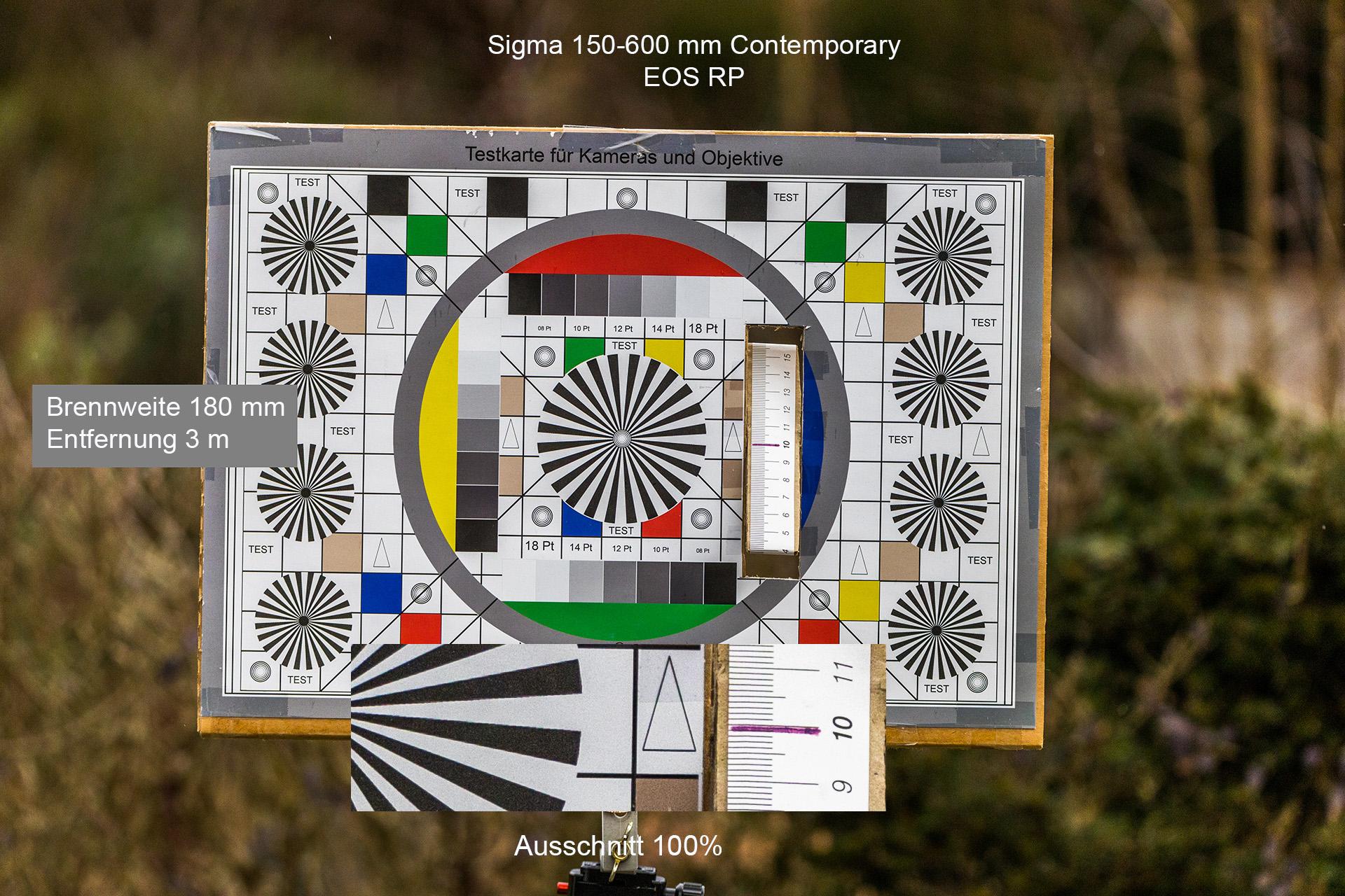 Testaufnahmen mit Sigma 150-600 mm, Canon EOS RP, 180 mm, 3 Meter