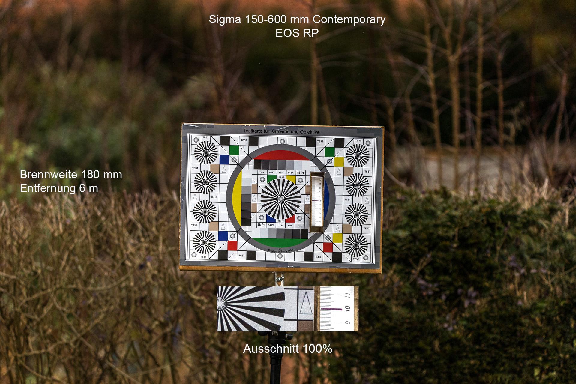 Testaufnahmen mit Sigma 150-600 mm, Canon EOS RP, 180 mm, 6 Meter