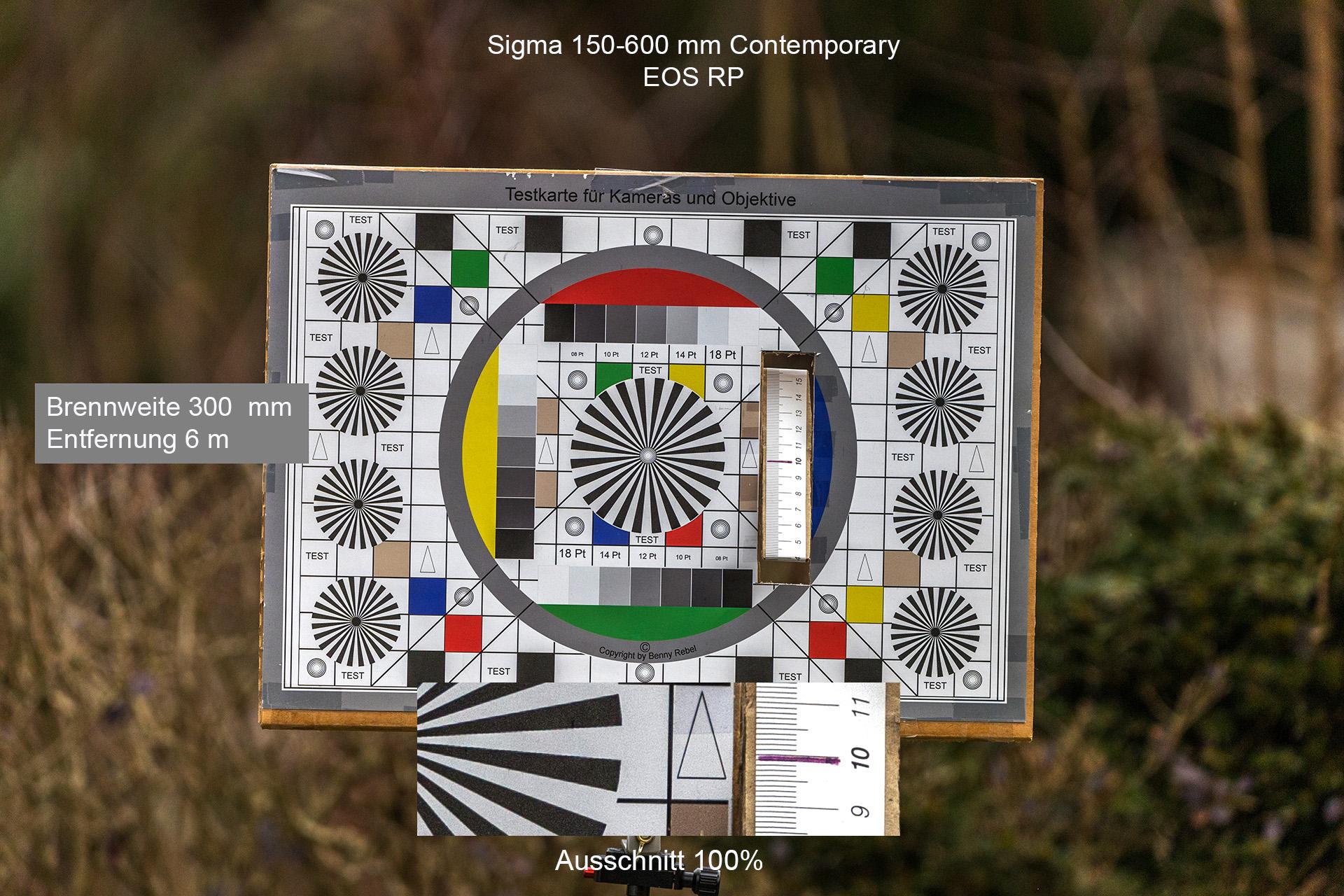 Testaufnahmen mit Sigma 150-600 mm, Canon EOS RP, 300 mm, 6 Meter
