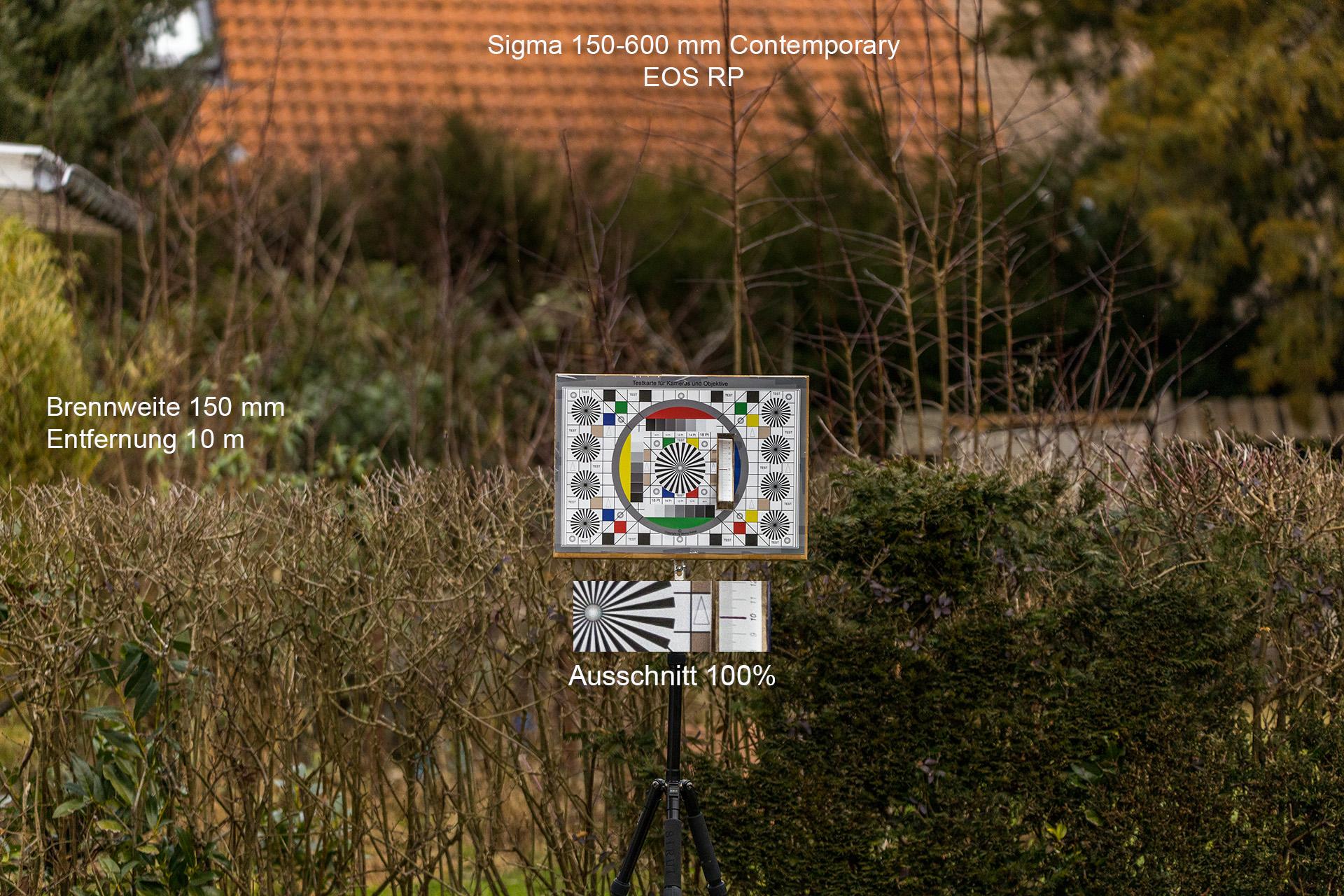 Testaufnahmen mit Sigma 150-600 mm, Canon EOS RP, 150 mm, 10 Meter