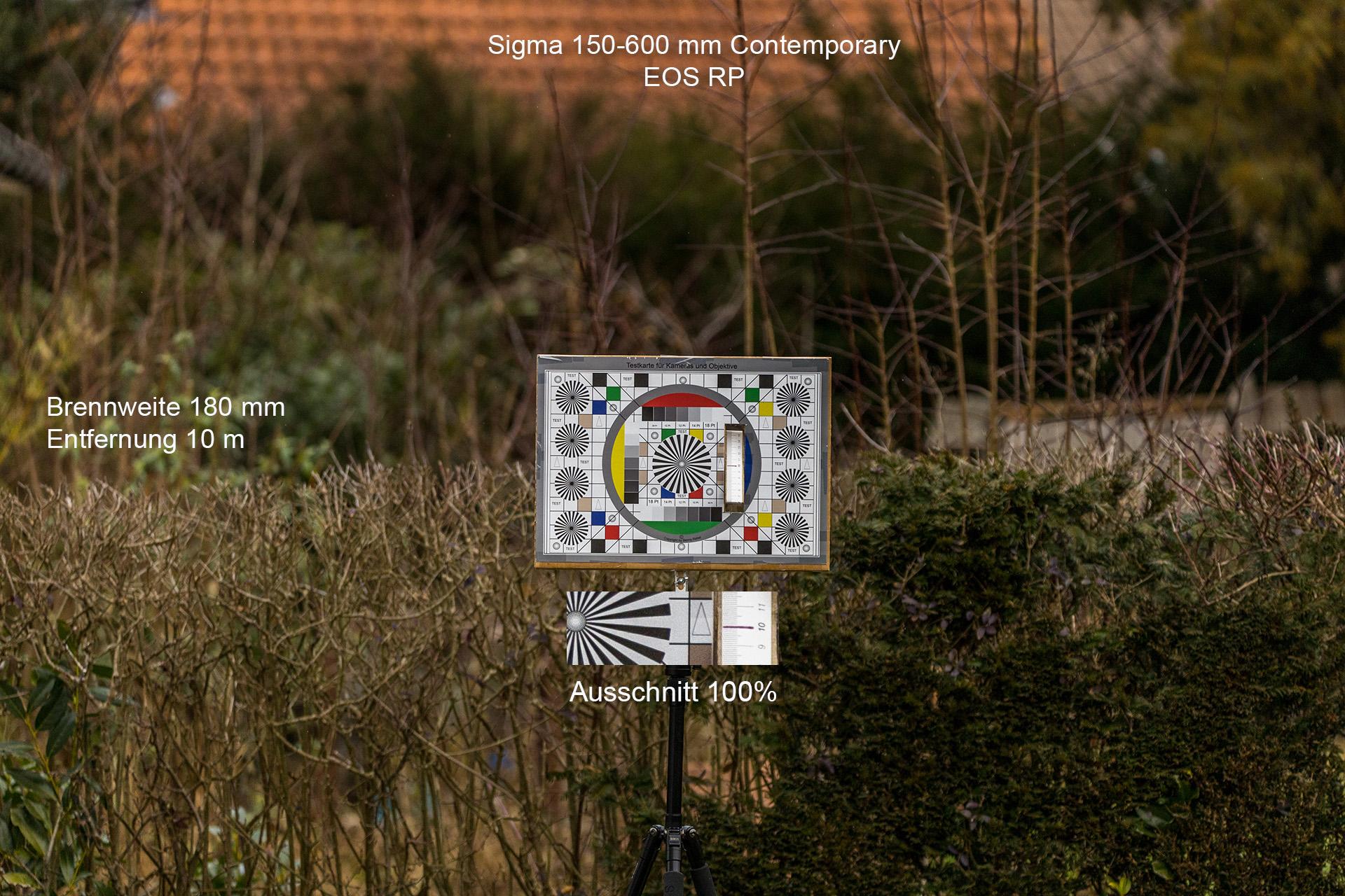 Testaufnahmen mit Sigma 150-600 mm, Canon EOS RP, 180 mm, 10 Meter