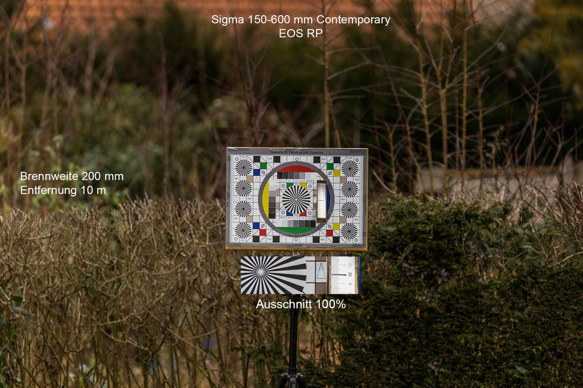 Testaufnahmen mit Sigma 150-600 mm, Canon EOS RP, 200 mm, 10 Meter