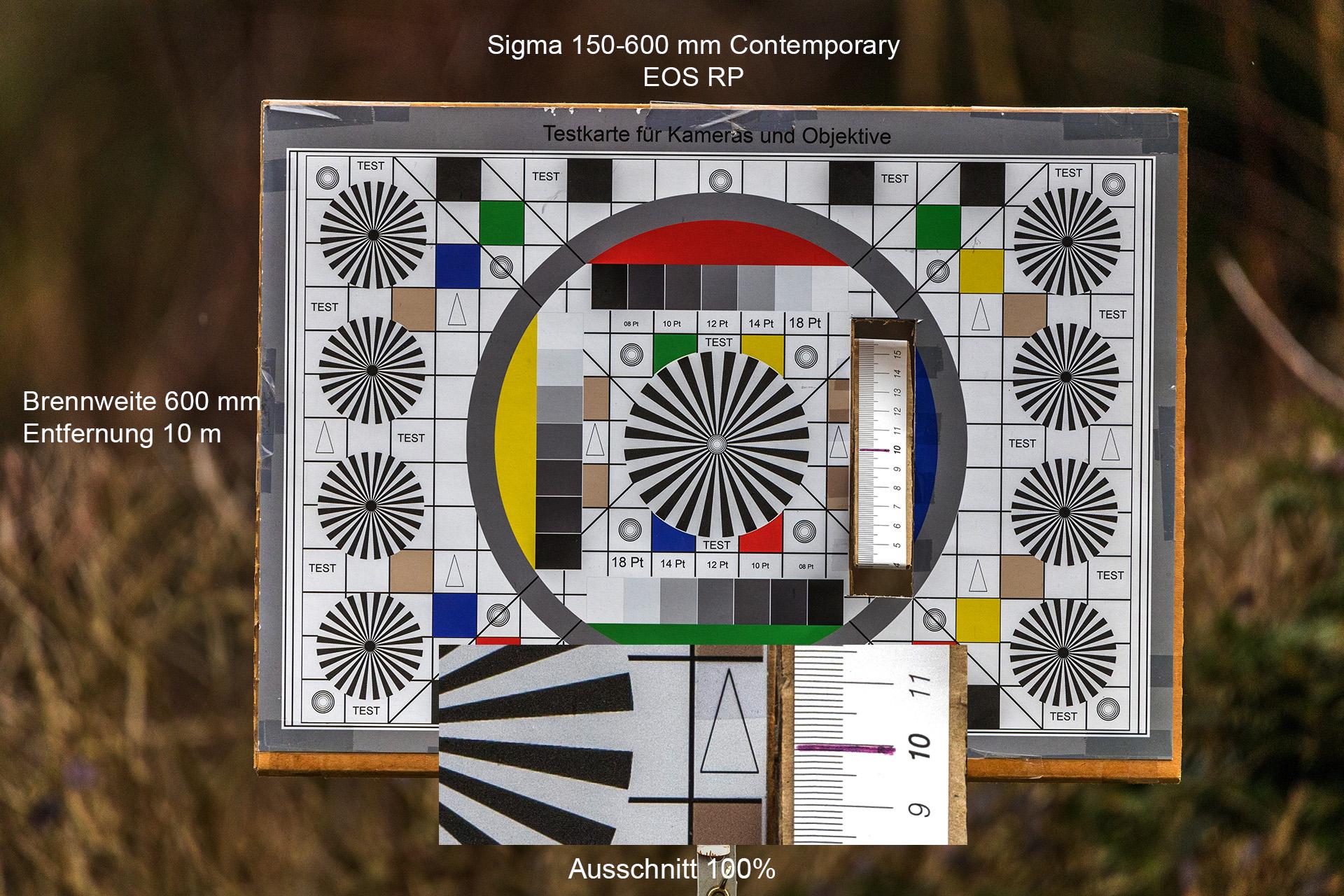 Testaufnahmen mit Sigma 150-600 mm, Canon EOS RP, 600 mm, 10 Meter