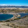 Blick auf die Stadt Pag, Insel Pag, Kroatien