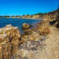 Der Strand von Bilotinjak, Nin, Kroatien